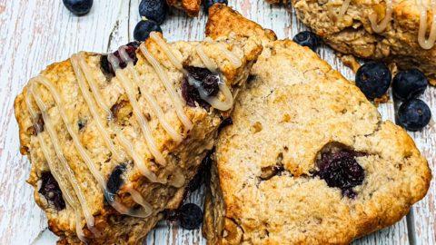 Vegan Recipes Cacao-Shamaness Vegan Blueberry Walnut Scones
