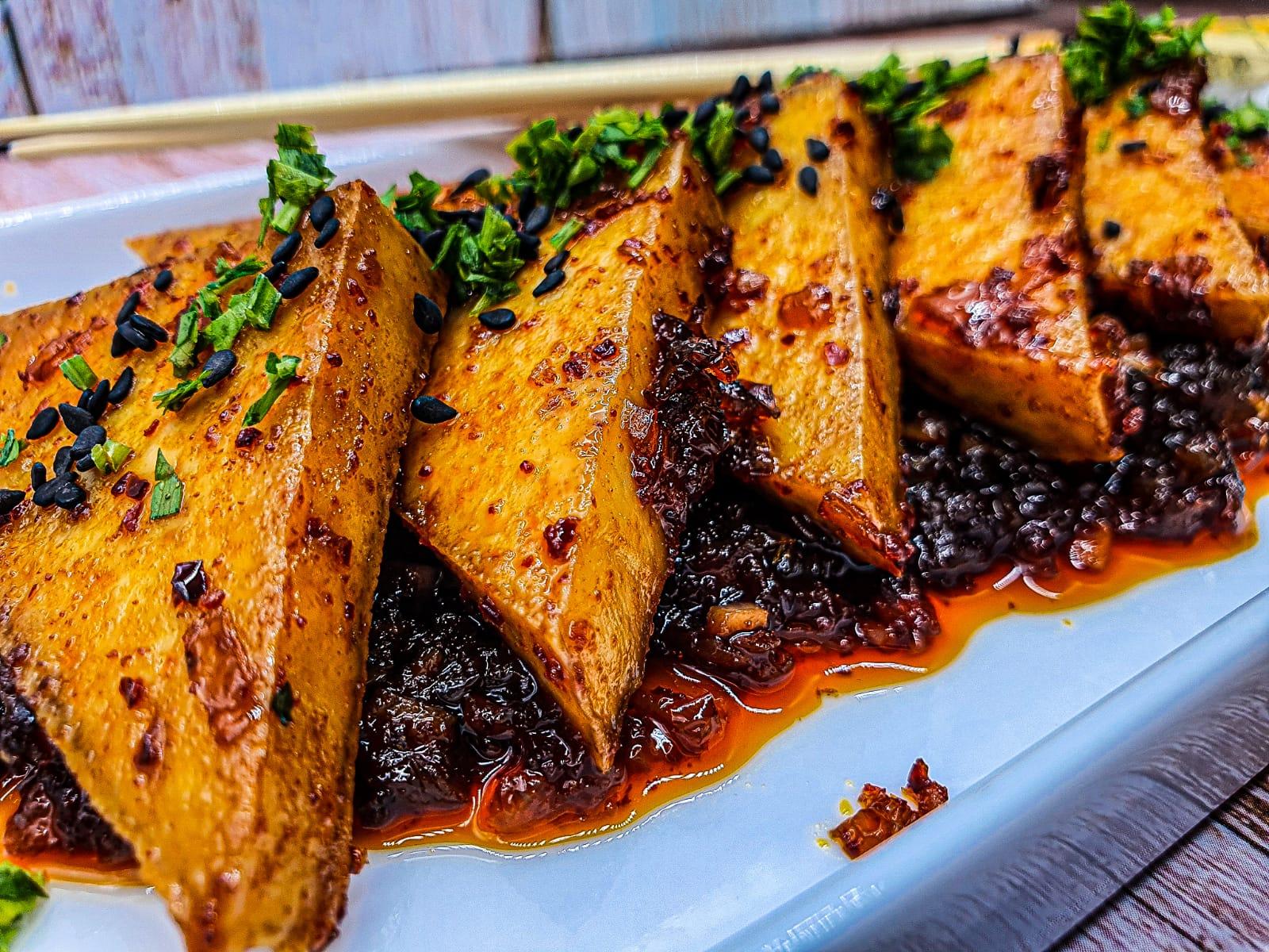 Vegan Recipes Cacao-Shamaness Korean Braised Tofu Sweet and Spicy