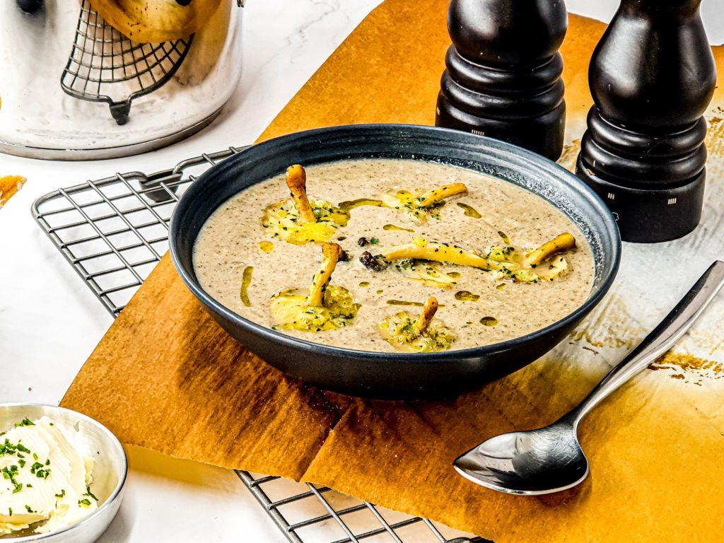 Vegan Recipes Cacao-Shamaness Vegan Mushroom Velouté Soup