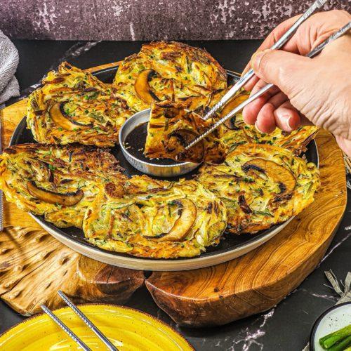 Vegan Recipes Cacao-Shamaness Vegan Korean Vegetable Pancake