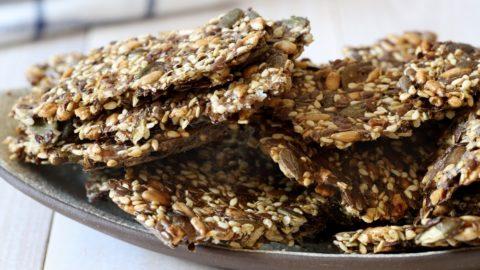 Vegan Recipes Cacao-Shamaness Vegan Spelt Seeded Crackers