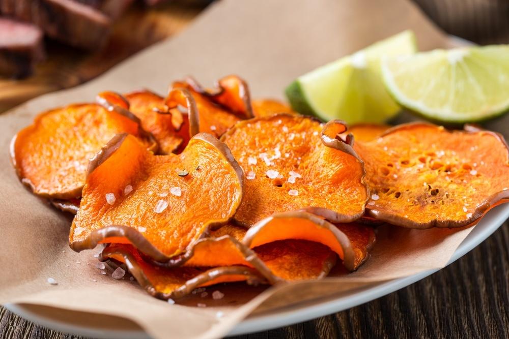 Vegan Recipes Cacao-Shamaness Baked Sweet Potato Chips