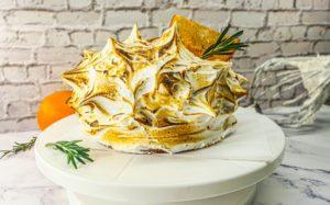 Vegan Recipes Cacao-Shamaness Vegan Orange Rosemary & Charred Meringue Cake