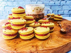 Vegan Recipes Cacao-Shamaness Vegan Strawberry Banana Macarons French Method