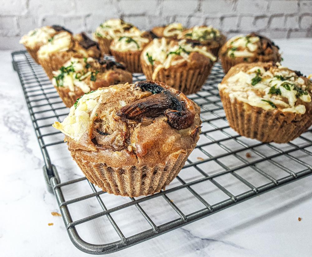 Vegan Recipes Cacao-Shamaness Vegan Mushrooms & Mozzarella Muffins