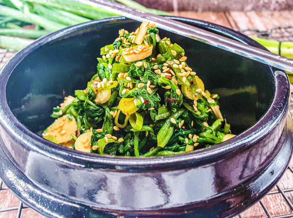 Vegan Recipes Cacao-Shamaness Vegan Korean Spinach Side Dish