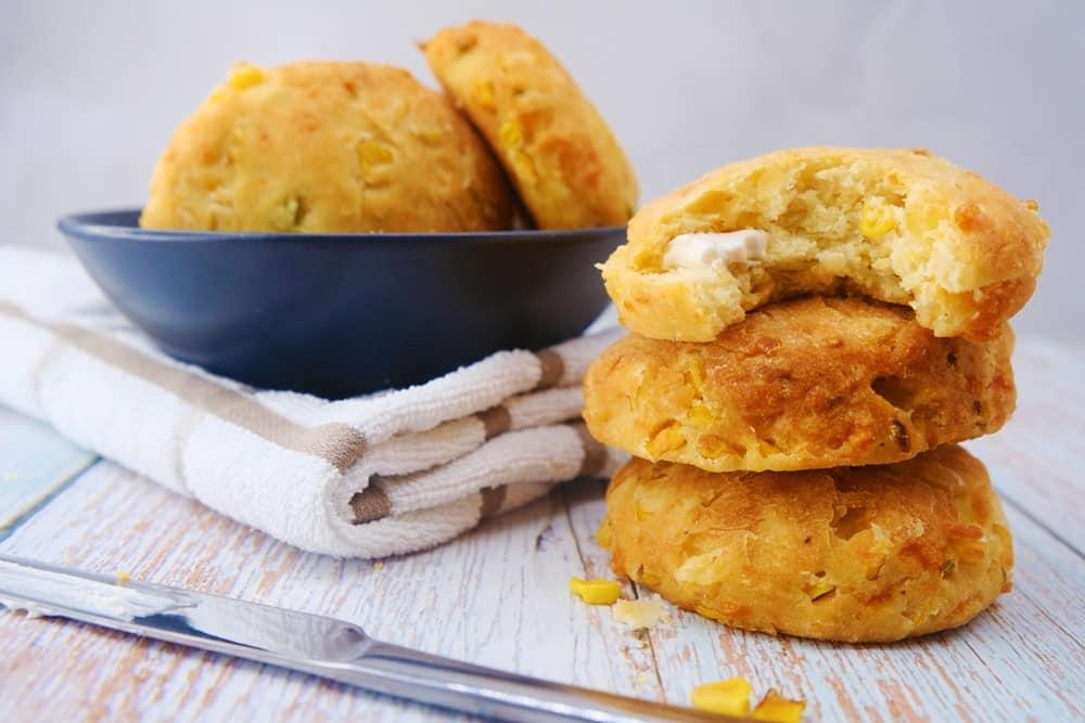 Vegan Recipes Cacao-Shamaness Vegan Corn Cheddar Biscuits