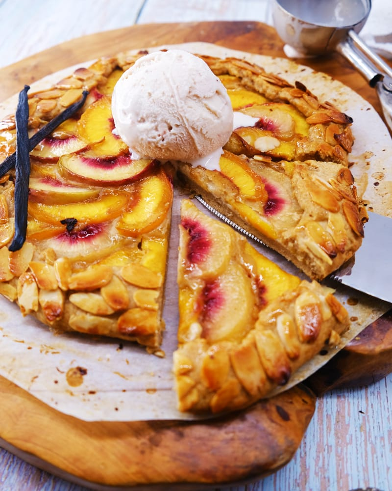 Vegan Recipes Cacao-Shamaness Vegan Peaches and Cream Gallete