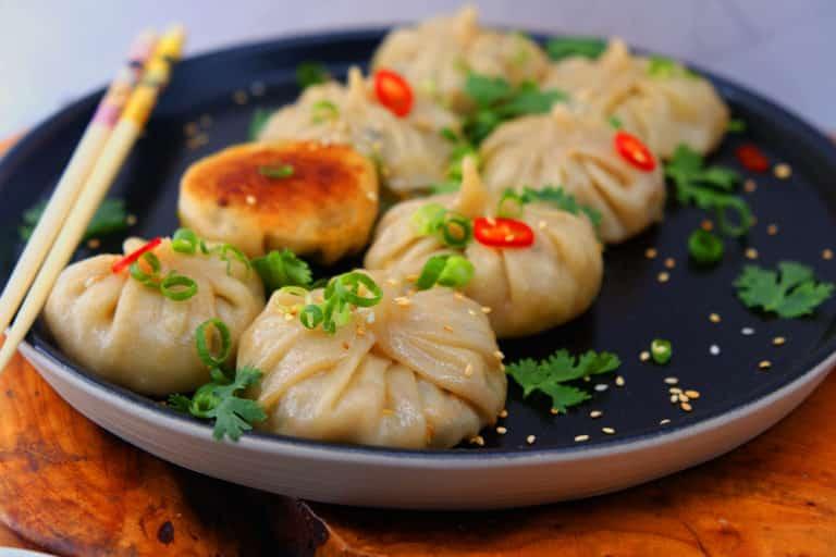 מתכונים טבעוניים קקאו-שאמאנס דאמפלינג טבעוניים במילוי ירקות וטופו